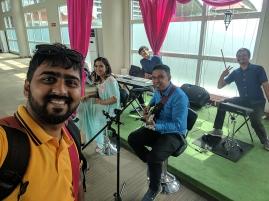 Bollywood songs at Bali Airport